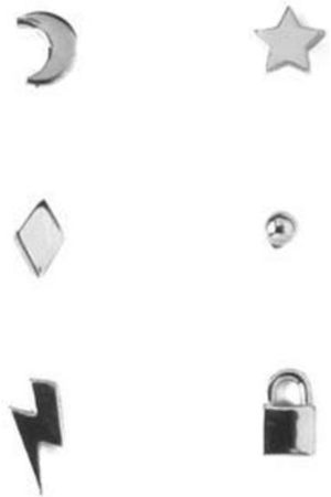 Orelia Mixed Charm 6Pack Studs Ear Party
