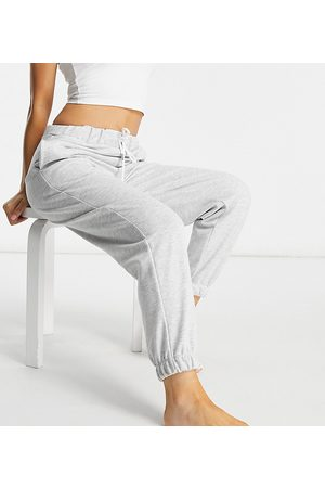 ASOS ASOS DESIGN Petite lounge brushed jogger in grey marl