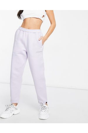 Ellesse Joggers with diamante logo in lilac- exclusive to ASOS-Purple