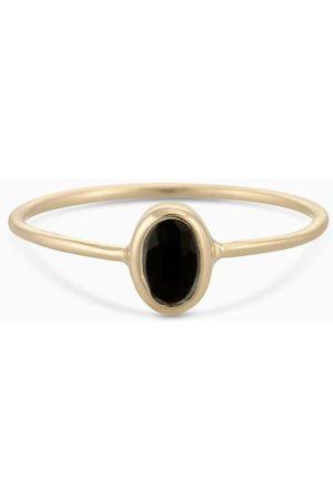 PapayaOslo Ring Oval Facet Black Onyx