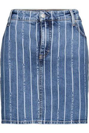 Calvin Klein Jeans Dame Miniskjørt - Plus High Rise Mini Skirt Kort Skjørt