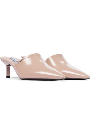 Prada Pointed leather mules
