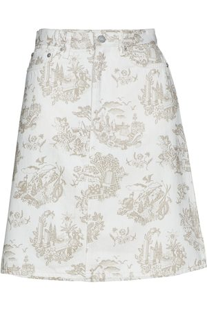 WoodWood Ynes Skirt Kort Skjørt Creme