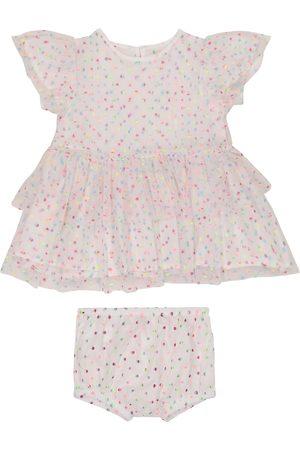 Stella McCartney Kjoler - Baby polka-dot tulle dress and bloomers set