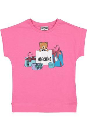 Moschino Printed stretch-cotton T-shirt