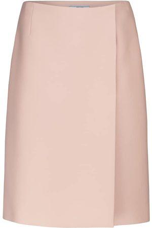 Prada High-rise wrap pencil skirt