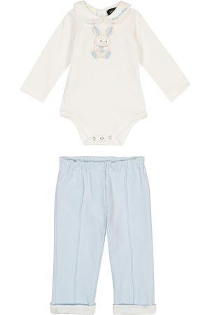 MONNALISA Sett - Baby cotton-jersey onesie and pants set