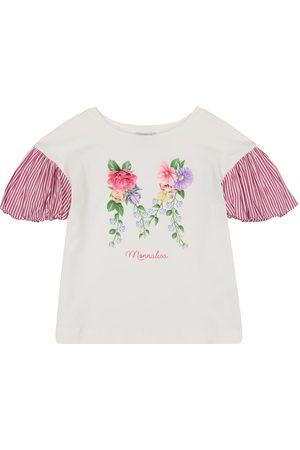 MONNALISA Floral stretch-cotton T-shirt