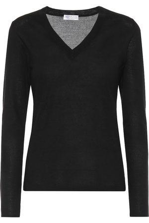 Brunello Cucinelli Dame Strikkegensere - Cashmere and silk sweater