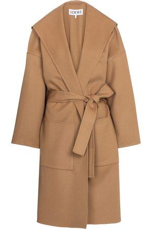 Loewe Dame Ullkåper - Belted wool and cashmere coat