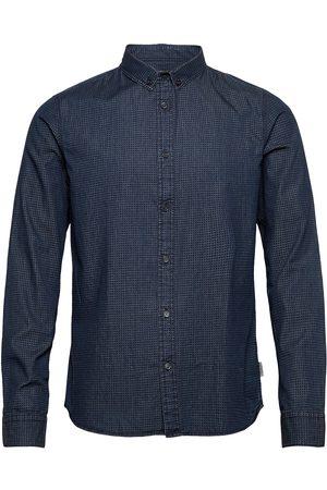 Calvin Klein Herre Langermede - Wilken Chambray Aop Shirt L/S Skjorte Uformell