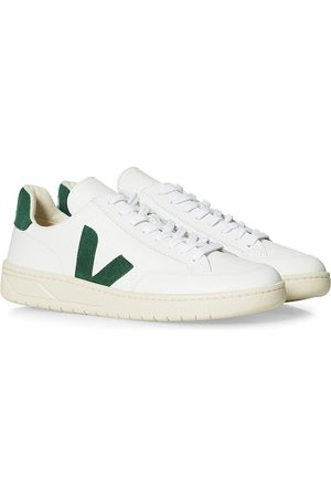 Veja Herre Sneakers - V-12 Leather Sneaker Extra White/Cyprus