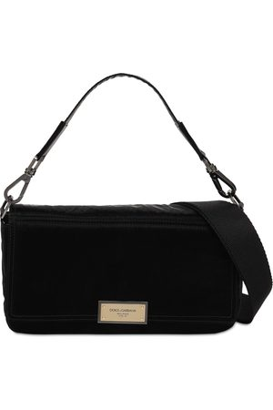 Dolce & Gabbana Herre Skuldervesker - Logo Plaque Nylon Shoulder Bag