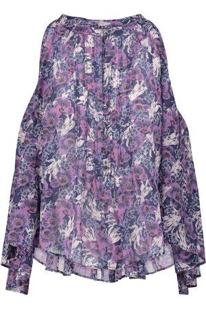 Isabel Marant Abiti floral cotton-voile blouse