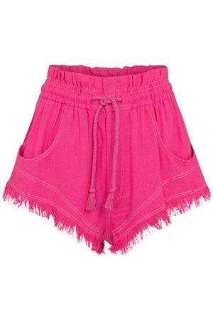 Isabel Marant Talapiz high-rise silk shorts