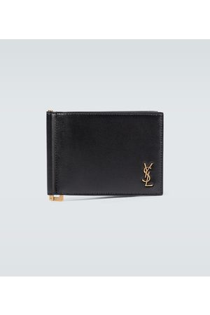 Saint Laurent Portadoll leather money clip wallet