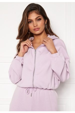 Only Scarlett L/S Hood Zip SWT Orchid Bloom L
