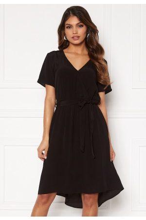 Vila Dame Midikjoler - Primera Wrap S/S Dress Black 42