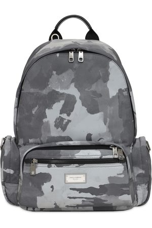 Dolce & Gabbana Logo Plaque Camo Nylon Backpack