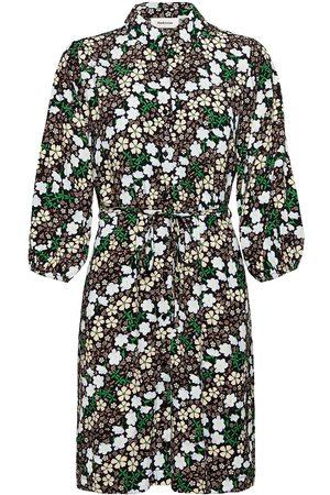 Modstrom Dame Mønstrede kjoler - Harlow Print Dress Kort Kjole Svart