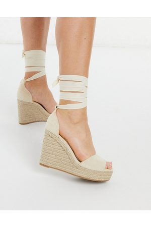 Glamorous Wedge espadrille sandals in natural-Neutral