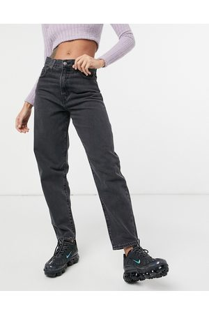 Levi's Dame High waist - Levi's high loose tapered leg jeans in black