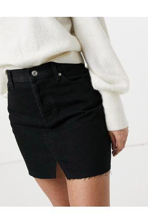 ASOS Dame Miniskjørt - Denim 'original' mini skirt in black