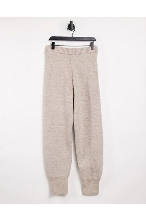 Weekday Dame Joggebukser - Amber knitted joggers in mole-Grey