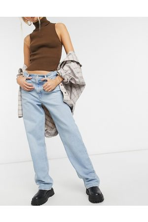 Levi's Levi's high loose straight leg jeans in bleach wash-Blue