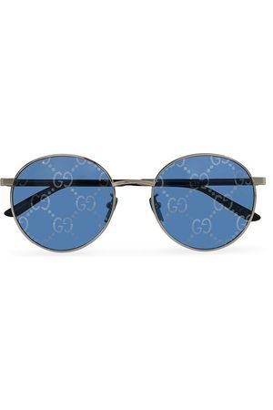 Gucci Herre Solbriller - GG0944SA Sunglasses Silver/Blue