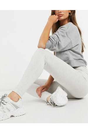 The Couture Club Outline logo highwaisted leggings-Grey