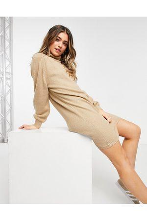 JDY Dame Hverdagskjoler - Knitted dress with roll neck in