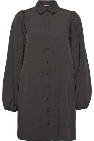 Envii Dame Korte kjoler - Enguldberg Ls Dress 6729 Kort Kjole Brun