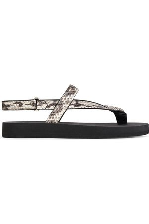 Giuseppe Zanotti Dame Flip flops - Hydra leather flip flops