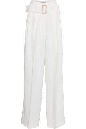 Golden Goose Cleofe belted high-rise wide-leg pants