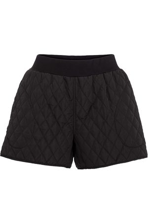 Norma Kamali High-rise quilted shorts