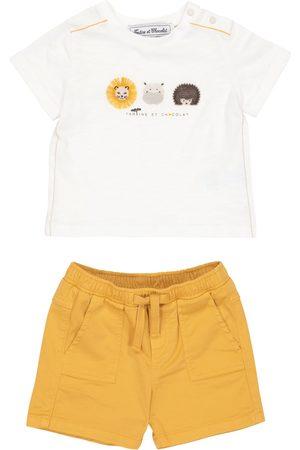Tartine Et Chocolat Kortermede - Baby cotton T-shirt and shorts set