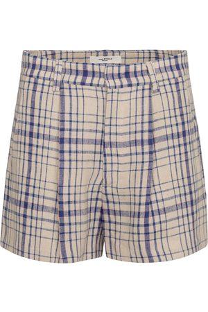 Isabel Marant Ilabot checked linen shorts