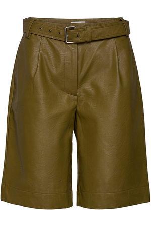 Six Ames Dame Shorts - Albertha Shorts Leather Shorts Grønn