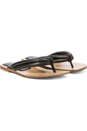 DRIES VAN NOTEN Leather thong sandals