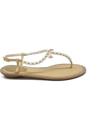 RENÉ CAOVILLA Dame Flip flops - Pearl Sandals