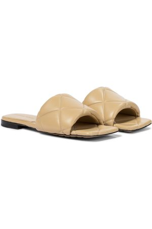 Bottega Veneta BV Rubber Lido leather sandals