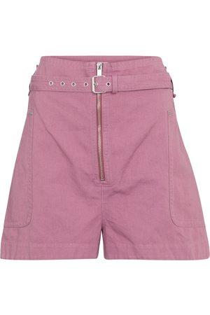 Isabel Marant Parana cotton and linen Bermuda shorts