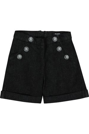 Balmain Stretch-cotton denim shorts