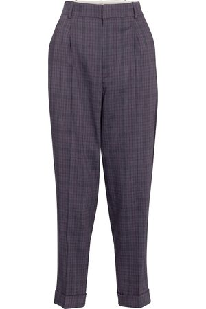 Isabel Marant Lowea checked tapered pants