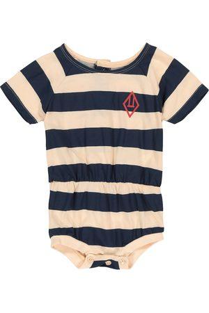 The Animals Observatory Baby Rabbit striped cotton bodysuit