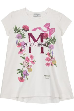MONNALISA Embellished stretch-cotton T-shirt