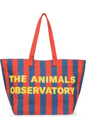 The Animals Observatory Striped canvas tote