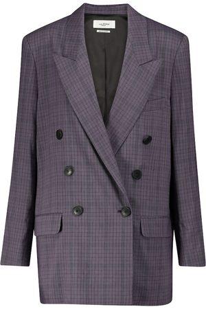 Isabel Marant Leaganea checked linen-blend blazer