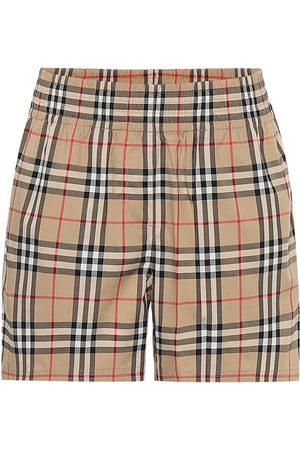 Burberry High-rise stretch-cotton shorts